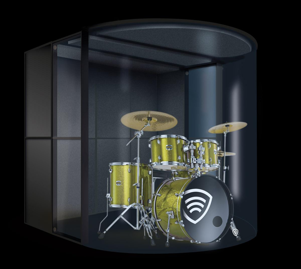 Bild Klangschild Stage Kit auf schwarzem Hintergrund